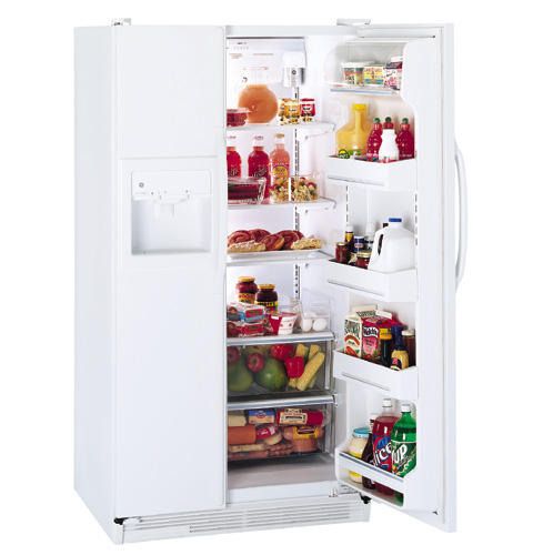 GE® 25.6 Cu. Ft. Side-by-Side Refrigerator with Dispenser and Water by Culligan™