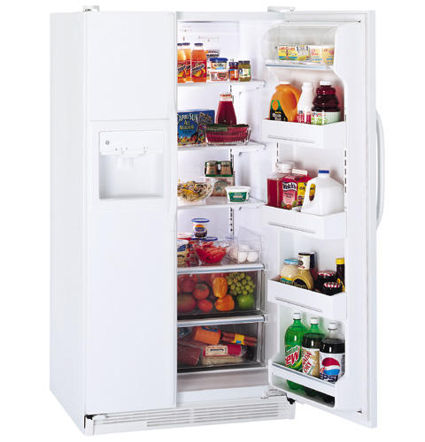 GE® 21.9 Cu. Ft. Side-by-Side Refrigerator with Dispenser