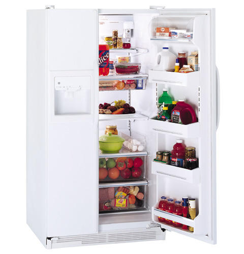 GE® 25.6 Cu. Ft. Side-by-Side Refrigerator with Dispenser and Water by Culligan