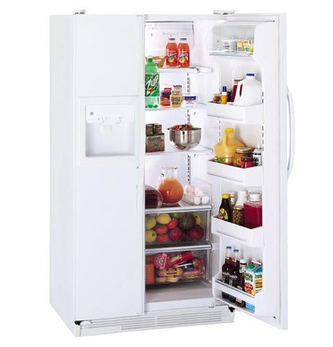 GE® 25.6 Cu. Ft. Side-by-Side Refrigerator with Dispenser