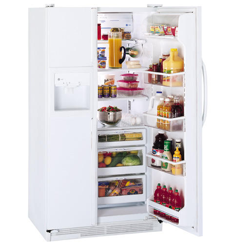 GE Profile™ 25.6 Cu. Ft. Side-by-Side Refrigerator with Dispenser