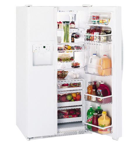 GE Profile Performance™ 30.0 Cu. Ft. Side-by-Side Refrigerator with Refreshment Center, Electronic Monitor and Dispenser with Water By Culligan™