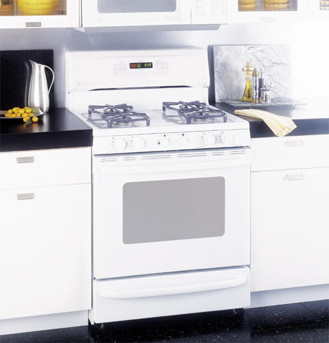 Ge Profile Performance Spectra 30 Free Standing Smooth Top Convection Gas Range Jgb920wecww Liances