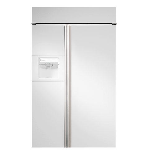 Zisw48dc Ge Monogram 48 Built In Side By Refrigerator With White Dispenser And Smarer Filtration Liances