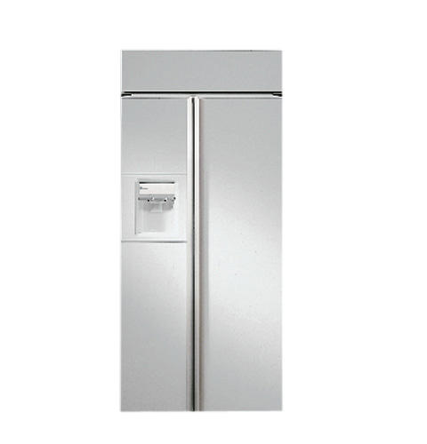 Zisw36dc Ge Monogram 36 Built In Side By Refrigerator With White Dispenser And Smarer Filtration Liances
