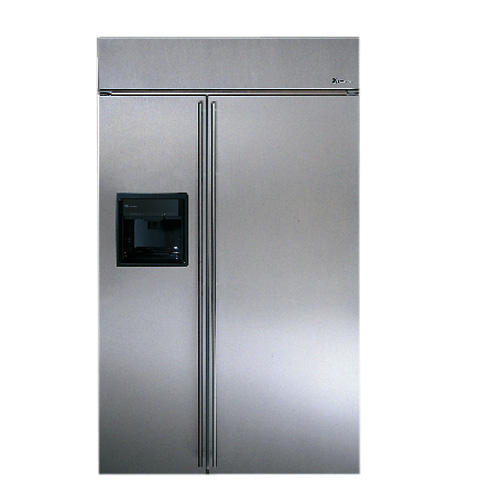 Ziss48dcss Ge Monogram 48 Built In Stainless Steel Side By Refrigerator With Black Dispenser And Smarer Filtration Liances