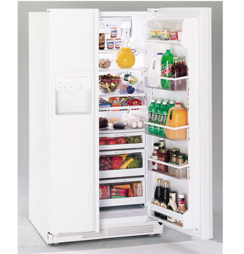 GE Profile Performance™ 25.6 Cu. Ft. Contour Door Side-by-Side Refrigerator with Dispenser and Water by Culligan™