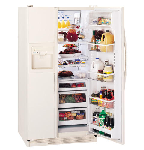 GE Profile Performance™ 25.6 Cu. Ft. Side-by-Side Refrigerator with Dispenser and Water By Culligan™