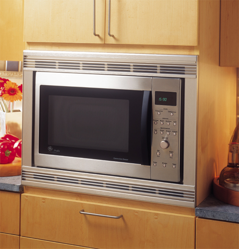 Countertop Convection Microwave With Trim Kit : GE Profile? Countertop Convection/Microwave Oven JE1590SC GE ...