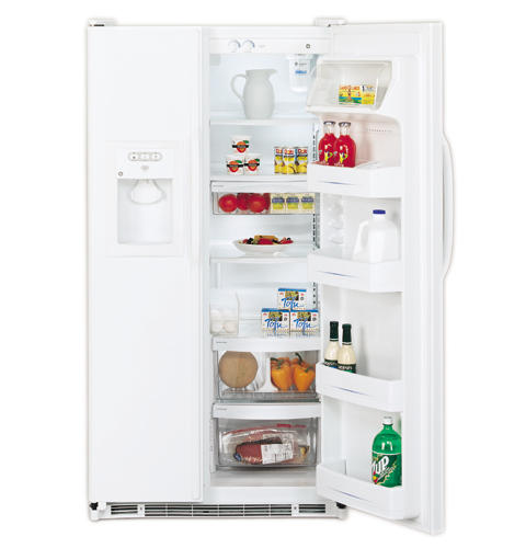 GE® 21.8 Cu. Ft. Side-By-Side Refrigerator with Dispenser