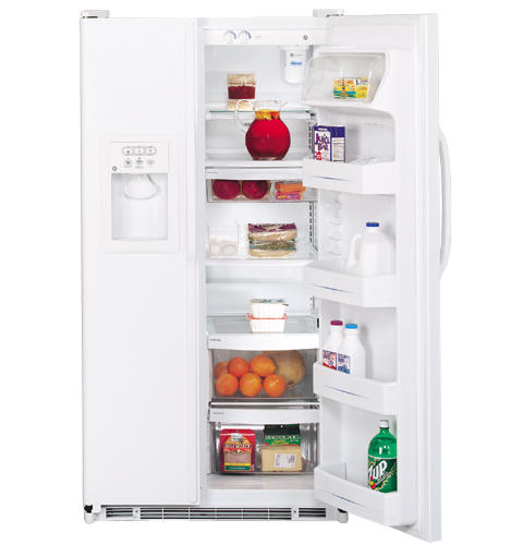 GE® 21.8 Cu. Ft. ENERGY STAR® Side-By-Side Refrigerator with Dispenser