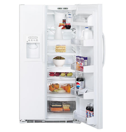 GE® 25 4 Cu  Ft  Side-By-Side Refrigerator | GSS25LGMWW | GE