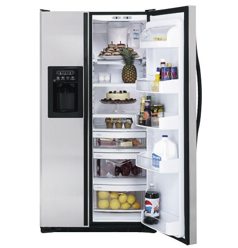 GE® 25.4 Cu. Ft. Stainless Side-by-Side Refrigerator