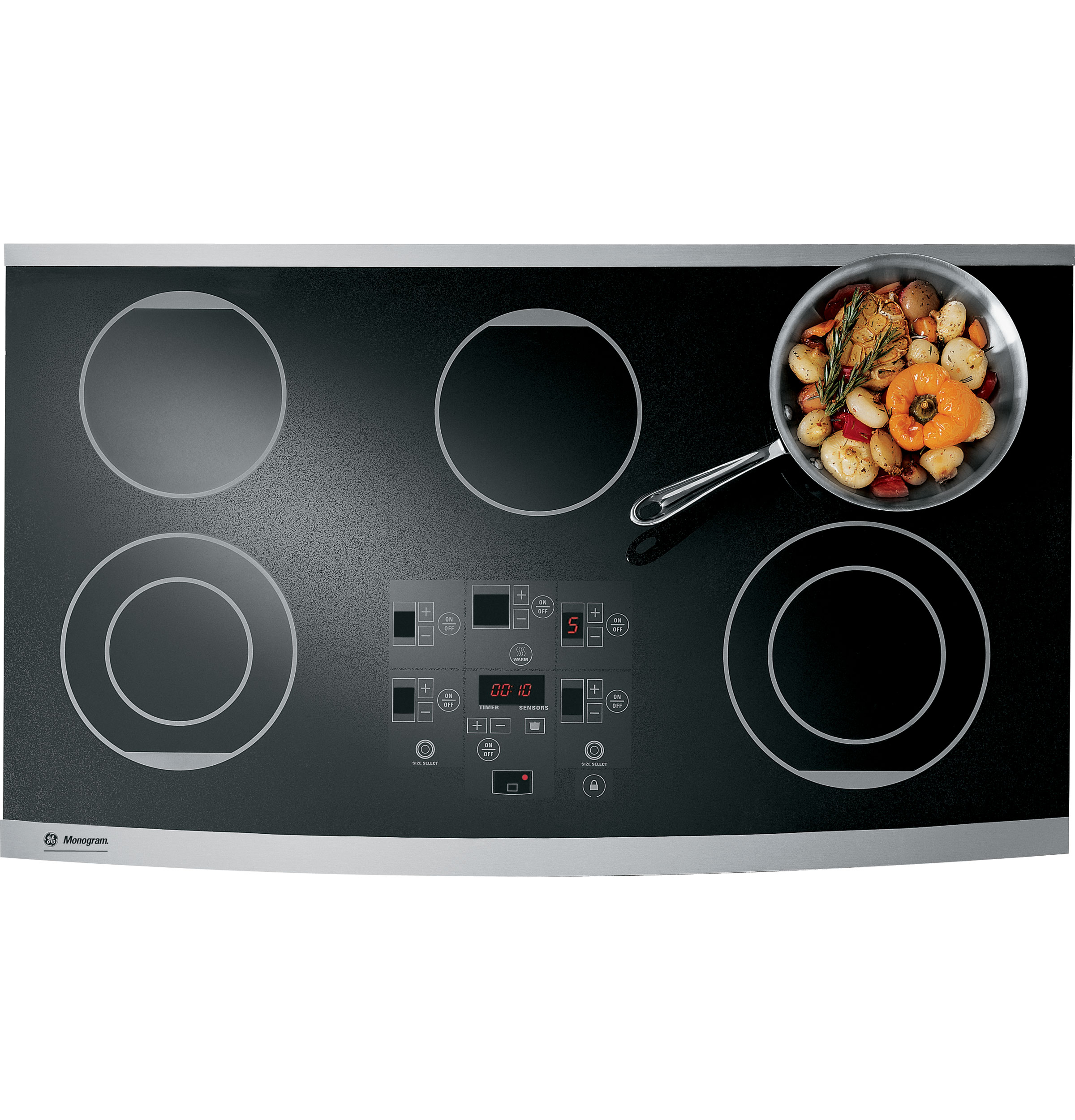Monogram 174 36 Quot Digital Electric Cooktop Zeu36rsfss Ge
