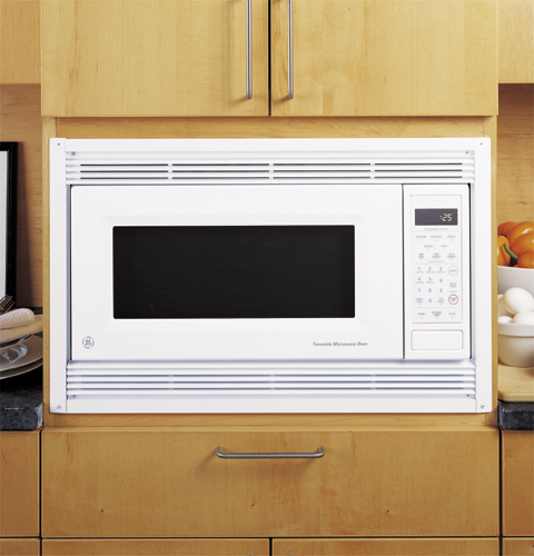 Jx827wn deluxe trim kit for countertop microwave ovens for Microwave ovens built in with trim kit
