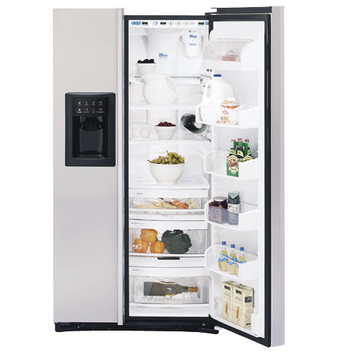 GE Profile Arctica CustomStyle™ ENERGY STAR® 22.6 Cu. Ft. Stainless Side-By-Side Refrigerator