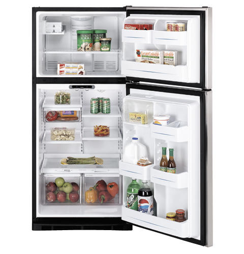 GE® 17.9 Cu. Ft. Stainless Top-Freezer Refrigerator