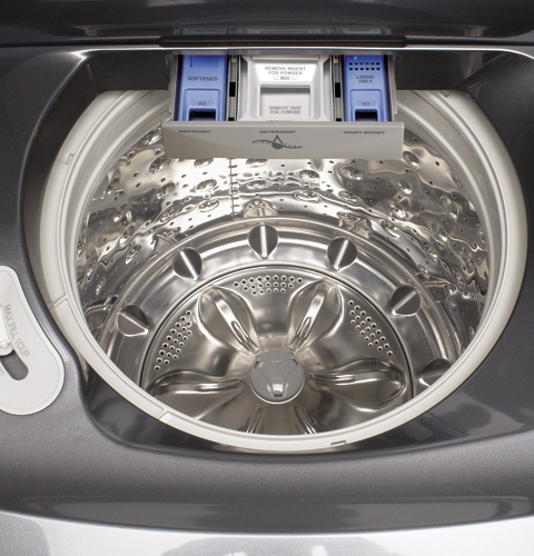 Ge Profile Harmony 4 0 Cu Ft Capacity King Size Washer With Stainless Steel