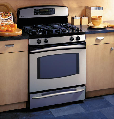 GE Profile™ Free-Standing Self-Clean Convection Gas on Glass Range with Warming Drawer