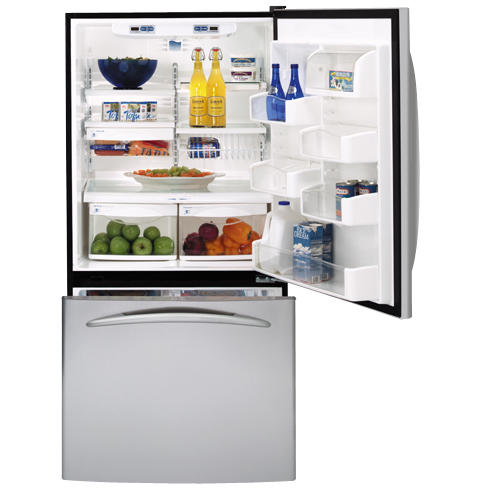 GE Profile™ ENERGY STAR® 19.5 Cu. Ft. Stainless Bottom-Freezer Drawer Refrigerator