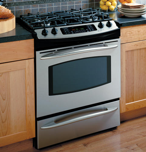 "Kitchen Stove Installation Guide: GE Profile™ 30"" Slide-In Gas Range"