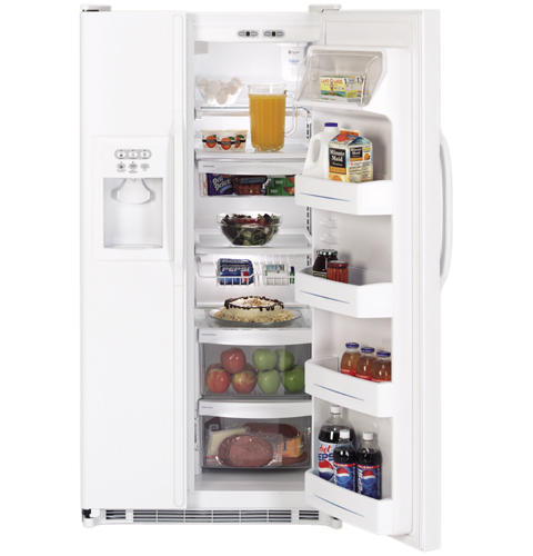 Ge 250 cu ft capacity side by side refrigerator with dispenser product image product image publicscrutiny Gallery