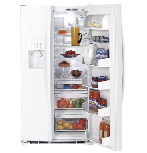 GE Profile™ ENERGY STAR® 25.5 Cu. Ft. Side-by-Side Refrigerator with Dispenser