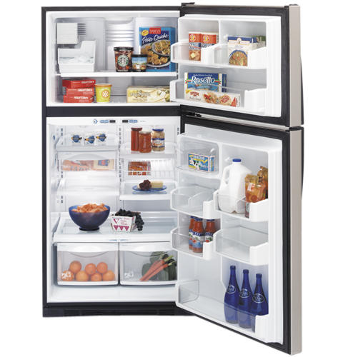 GE Profile™ ENERGY STAR® 21.7 Cu. Ft. Stainless Top-Freezer Refrigerator