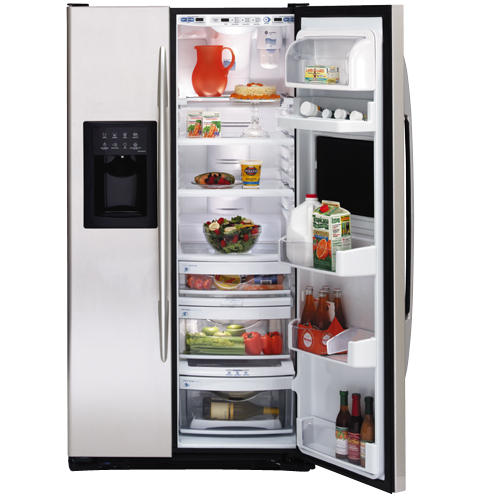 GE Profile CustomStyle™ 22.6 Cu. Ft. Side-by-Side Refrigerator with Refreshment Center