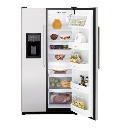 GE® 24.9 Cu. Ft. Capacity Side-By-Side Refrigerator with Dispenser