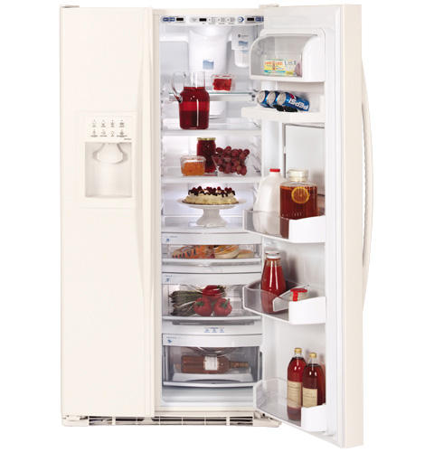 GE Profile™ 25.5 Cu. Ft. Side-by-Side Refrigerator with Refreshment Center