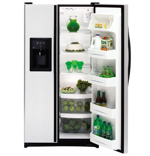 GE® 21.9 Cu. Ft. Capacity Side-By-Side Refrigerator with Dispenser
