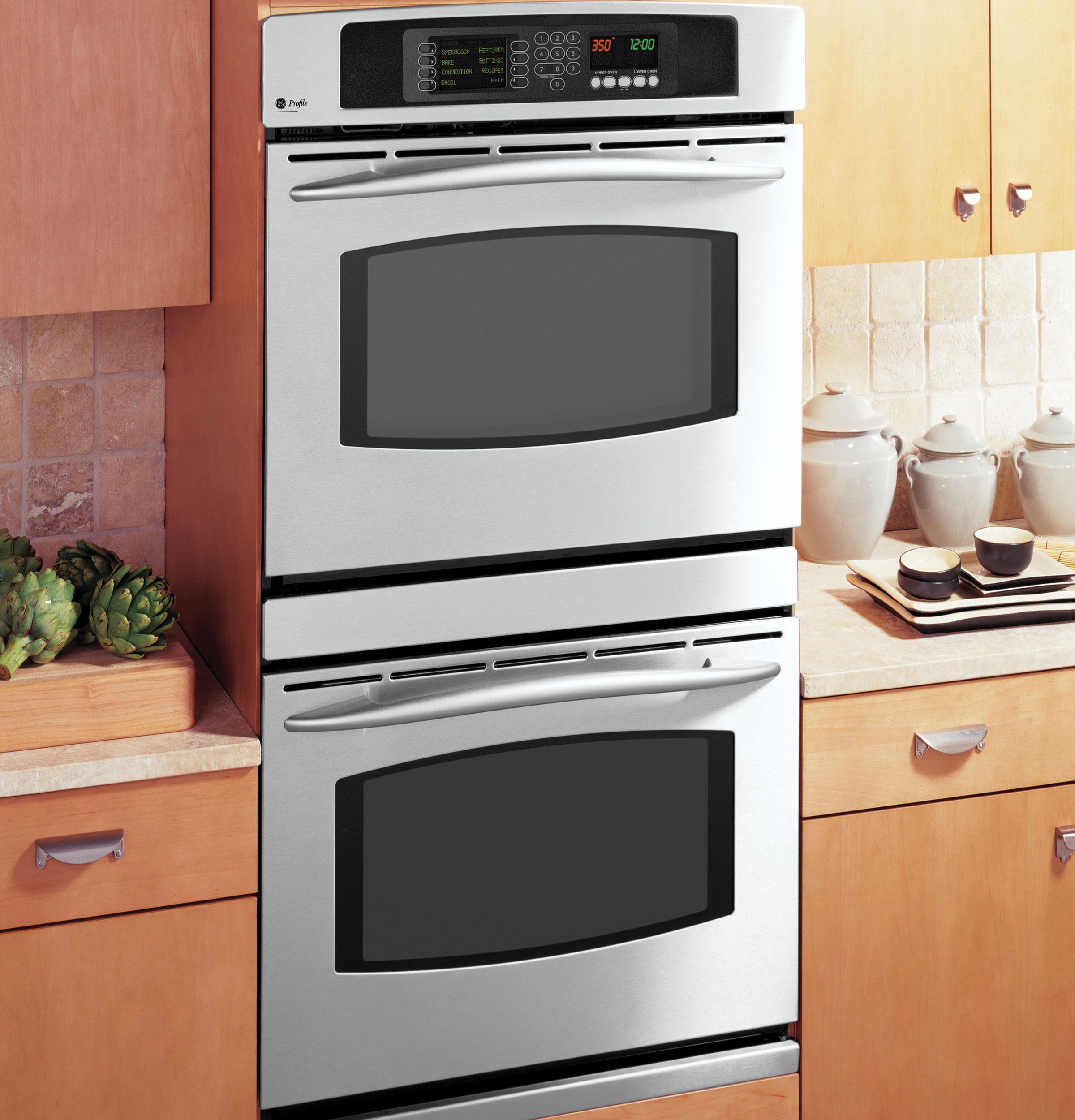 GE Profile Built-In Double Oven with Trivection® Technology ...