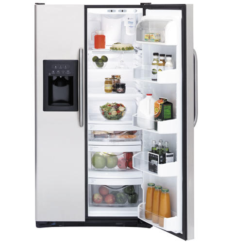GE ENERGY STAR® 25.4 Cu. Ft. Stainless Side-by-Side Refrigerator