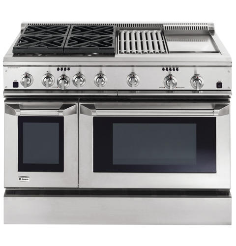 Zdp48n4ghss Ge Monogram 48 Dual Fuel Professional Range With 4 Burners Grill And Griddle Natural Gas Liances