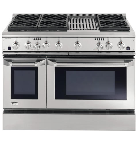 Zdp48l6rhss Ge Monogram 48 Dual Fuel Professional Range With 6 Burners And Grill Liquid Propane Liances