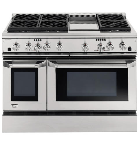 Zdp48l6dhss Ge Monogram 48 Dual Fuel Professional Range With 6 Burners And Griddle Liquid Propane Liances