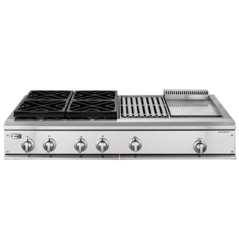 Zgu48l4ghss Ge Monogram 48 Professional Gas Cooktop With 4 Burners Grill And Griddle Liquid Propane Liances