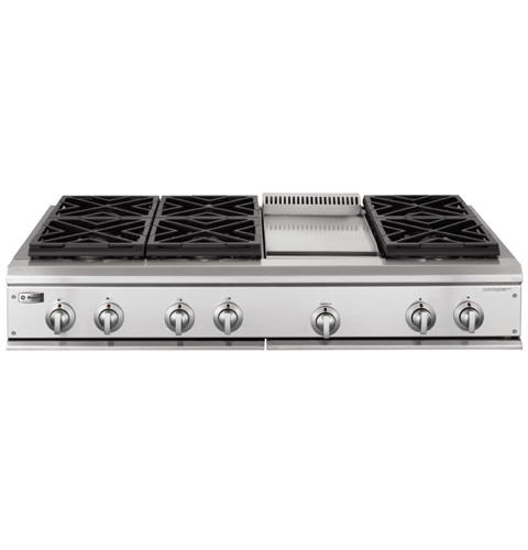 Zgu48n6dhss Ge Monogram 48 Professional Gas Cooktop With
