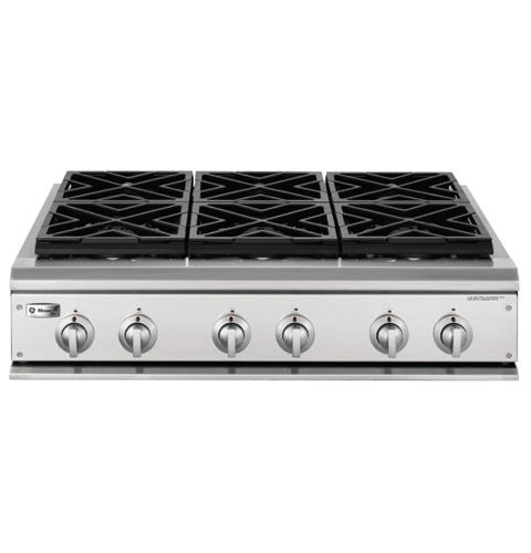 GE MonogramR 36 Professional Gas Cooktop With 6 Burners Natural