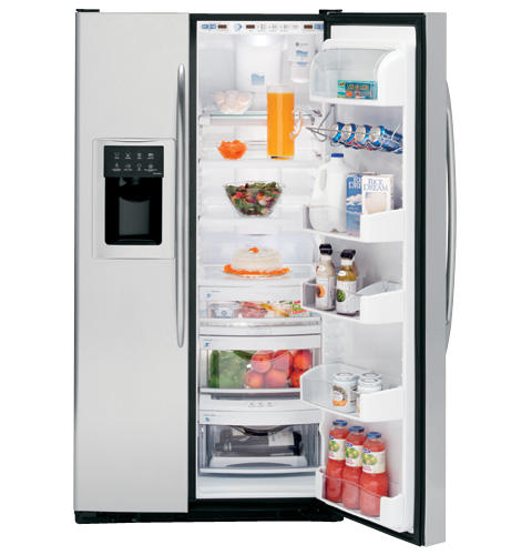 GE Profile™ 26.5 Cu. Ft. Stainless Side-by-Side Refrigerator with Dispenser