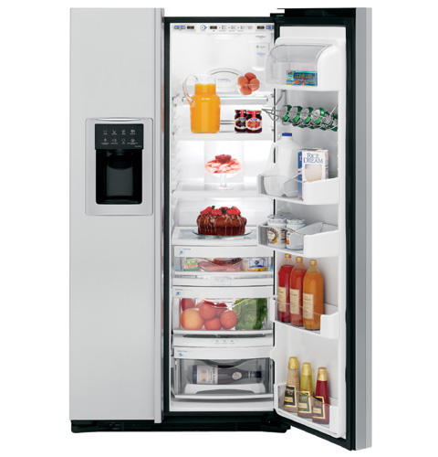 GE Profile CustomStyle™ ENERGY STAR® 22.6 Cu. Ft. Stainless Side-By-Side Refrigerator
