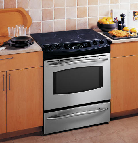 "Kitchen Stove Installation Guide: GE Profile™ 30"" Slide-In Electric Range"
