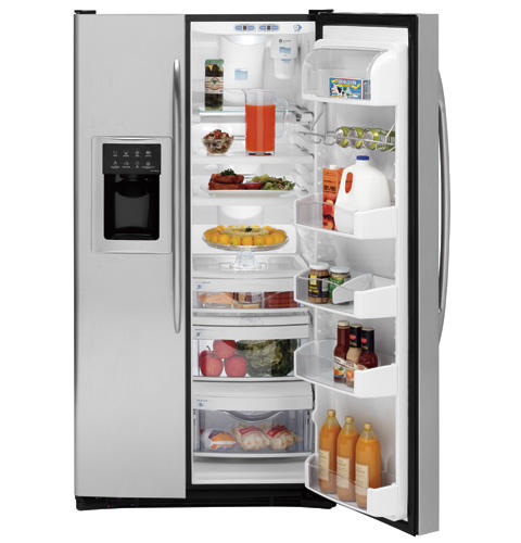 GE Profile™ ENERGY STAR® 25.6 Cu. Ft. Stainless Side-by-Side Refrigerator with Dispenser