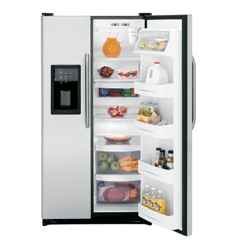 GE® 21.9 Cu. Ft. Capacity Stainless Side-By-Side Refrigerator with Dispenser