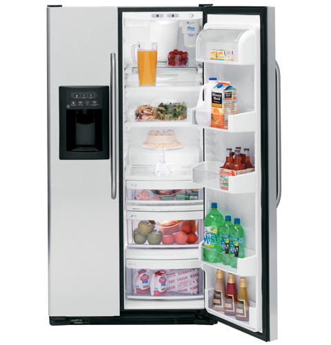 GE CustomStyle™ 22.6 Cu. Ft. Stainless Side-By-Side Refrigerator
