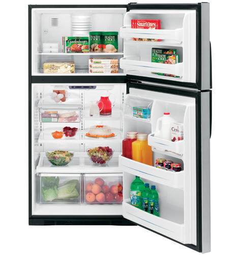 GE® 21.9 Cu. Ft. CleanSteel™ Top-Freezer Refrigerator