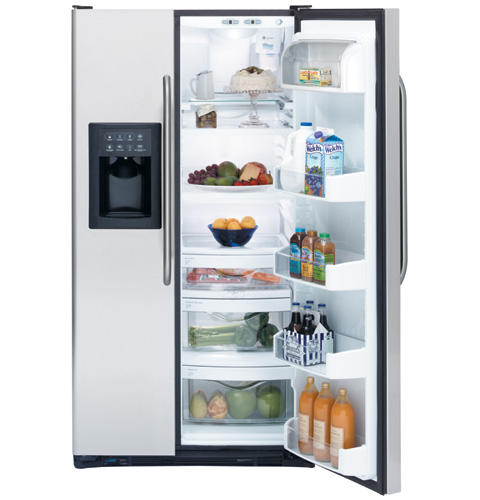 GE® 25.4 Cu. Ft. Stainless Side-By-Side Refrigerator with Dispenser