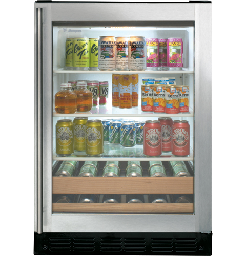 Undercounter Beverage Center with Liquid Crystal Window