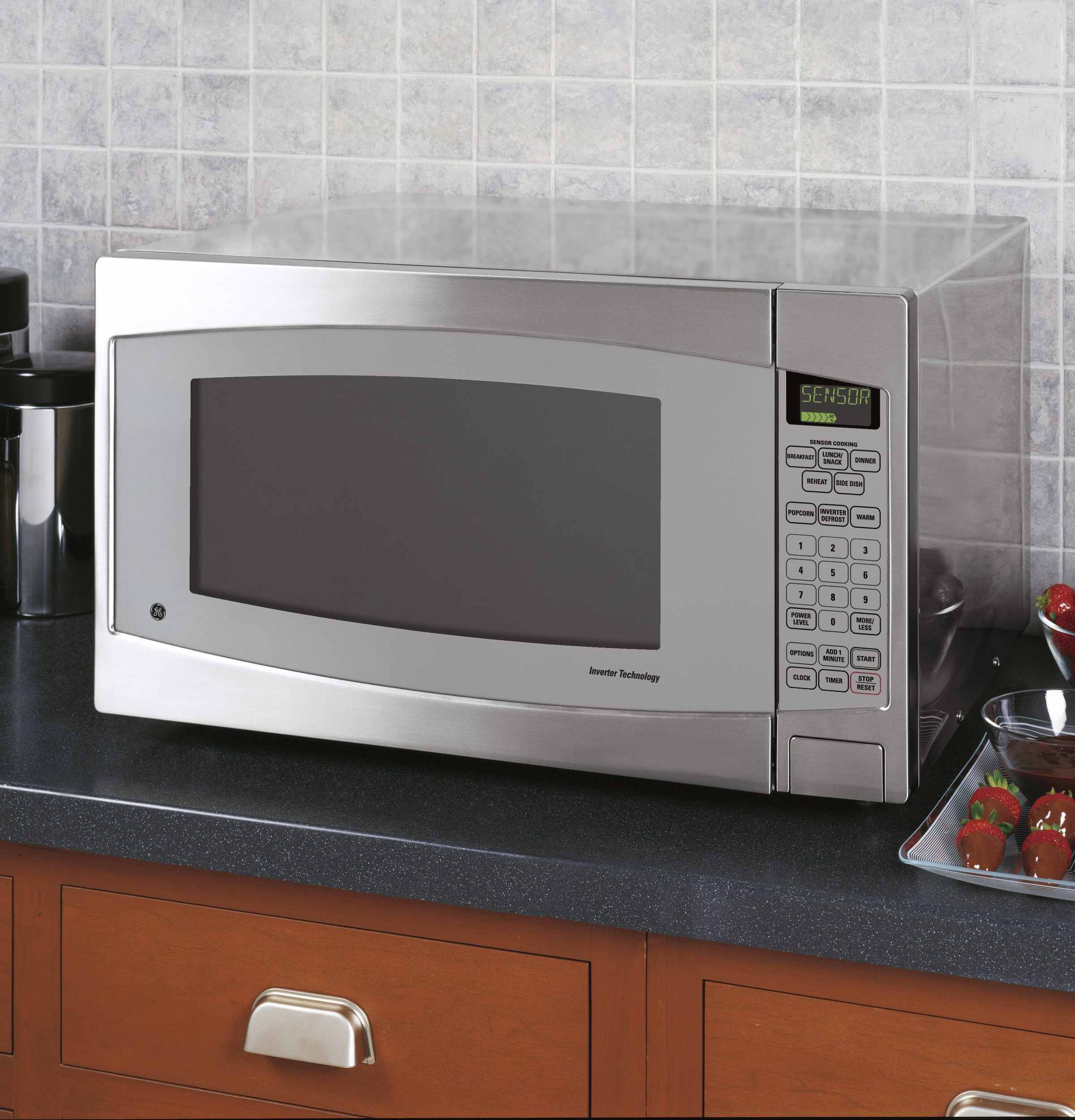 GE Profile™ Series 2.2 Cu. Ft. Capacity Countertop Microwave Oven ...